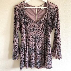 Indigo Thread Co. Velvet Burnout Tunic